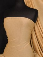 Gold Shimmer 4 Way Stretch Fabric- Camel SQ51 CML