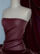 Subtle Gold Shimmer 4 Way Stretch Fabric - Burgandy SQ55 BURG