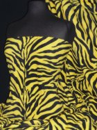 Polar Fleece Anti Pill Washable Soft Fabric- Yellow/Black Zebra Q816 YLBK