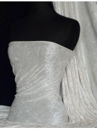 Marble Texture Velvet Lycra 4 Way Stretch Fabric-  Ivory Q172 IV