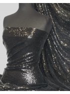 Showtime Fabric All Over Stitched 3mm Sequins - Black SEQ53 BK