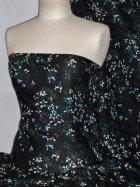 100% Viscose Light Weight Sheer Fabric- Autumnal Teal PVSC172 BKTL