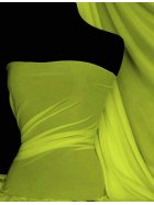 Paris Mesh Non-Lycra 4 Way Stretch Light Jersey Fabric- Flo Yellow Q450 FLYL