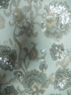 Showtime Fabric All Over Stitched 3mm Sequins - Pearlette SEQ57 PRL