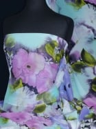 Chiffon Soft Touch Sheer Fabric - Watercolour Art CHF187 MLT