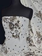 Chiffon Soft Touch Sheer Fabric - Golden Summer CHF186 CRMBK