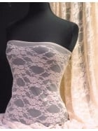Flower Stretch Lace Fabric- Nude Pink Q137 ND