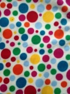 Polar Fleece Anti Pill Washable Soft Fabric- Pudsey Polka Dots Q1285 CRMMLT