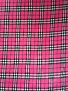 Polar Fleece Anti Pill Washable Soft Fabric- Cerise Pink Tartan PF CRSTRT