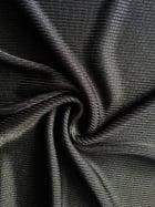 2 x 2 100% Polyester Rib Knit Stretch Fabric- Black SQ99 BK