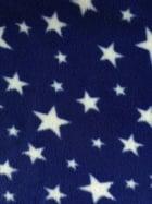 Polar Fleece Anti Pill Washable Soft Fabric- Royal Blue Twinkle PF227 RBLWHT