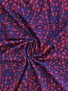 Viscose Cotton Stretch Lycra Fabric- Kaleidoscope Red/Blue VSC216 RDBL