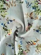 Clearance Georgette Chiffon Sheer Fabric- Florals Mint/Multi CHF221 MNTMLT