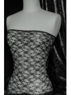 Victorian Design Antique Lightweight Non-Stretch Lace- Black Q930 BK