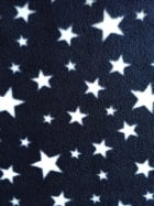 Polar Fleece Anti Pill Washable Soft Fabric- Navy Twinkle PF227 NYWHT