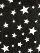 Polar Fleece Anti Pill Washable Soft Fabric- Black Twinkle PF227 BKWHT