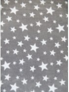 Polar Fleece Anti Pill Washable Soft Fabric- Grey Twinkle PF227 GRYWHT