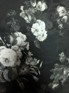 Scuba 4 Way Stretch Poly Lycra Fabric- Floral Shadow Q1393 BKGR