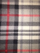 Polar Fleece Anti Pill Washable Soft Fabric- Scottish Grey Tartan PF GRRD