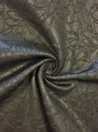 Micro Lycra Embossed Ciré 4 Way Stretch Wet Look Fabric- Black SQ142 BK