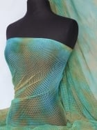 Tie-Dye Fishnet 4 Way Stretch Material- Mermaid Q713 GRNBL