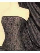 Viscose Cotton 4 Way Stretch Fabric- Grey/Black Crocodile SQ144 GRBK