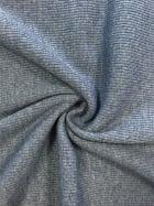 100% Cotton Jersey 2 x 2 Rib Knit Fabric- Petrol Blue Q1007 PTBL