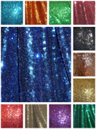 Showtime Fabric All Over Stitched 3mm Sequins SEQ53