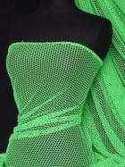 Fishnet 4 Way Stretch Material- Lime Green Q319 LMGR