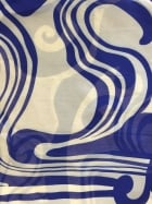Georgette Chiffon Soft Touch Sheer Fabric - Royal Blue/Ivory Swirl CHF251 RBLIV