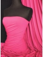 Heavy Viscose Cotton Stretch Lycra Fabric- Cerise Q896 CRS