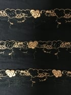 Lace Flower Border Mesh Trim- Black SY160 BKOR