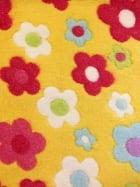 Micro Fleece Ultra Soft Fabric- Daisies Yellow/Multi MF YLMLT