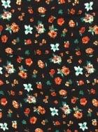 Crepe Blouse Fabric- Miniature Florals Black/Multi CRP4 BKMLT