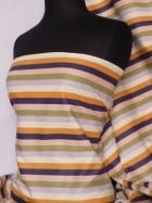 Poly Cotton Material- Vertical Multi Stripe Q1013 MLT