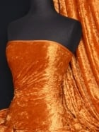 Crushed Velvet/Velour Stretch Material- Orange Q156 OR