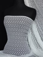 Fish Net 4 Way Stretch Circle Knit Material- Ivory Q899 IV