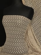 Fish Net 4 Way Stretch Circle Knit Material- Taupe Q899 TP