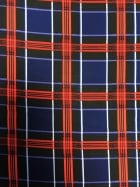 Smooth Touch Woven Stretch Fabric- Classic Tartan Navy/Red SMT17 NYRD