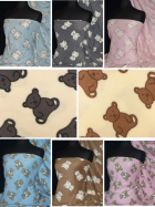 Polar Fleece Anti Pill Washable Soft Fabric- Teddy Bear Prints