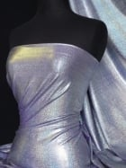 Hologram Foil Micro Lycra Stretch Fabric- Purple Q781 PPL