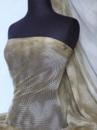 Tie-Dye Fishnet 4 Way Stretch Material- Light Khaki Q713 LTKH