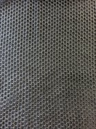 Fishnet Beehive Hexagon 4 Way Stretch Material- Black SQ198 BK