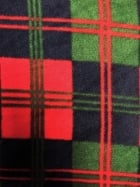 Polar Fleece Anti Pill Washable Soft Fabric- Xmas Tartan Q1404 RDNY