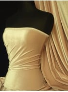 Velvet /Velour 4 Way Stretch Spandex Lycra- Champagne Q559 CHAMP
