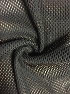 Fishnet Diamond 4 Way Stretch Material- Black SQ206 BK