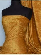 Crushed Velvet/Velour Stretch Material- Mustard Q156 MST