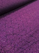 20 METRES Lace Hologram Sequins Stretch Material Job Lot Bolt- Purple JBL2 PPL