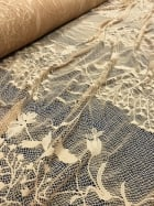 20 METRES Super Soft 4 Way Stretch Floral Design Lace Material Wholesale Roll- Honeycomb JBL15 CML