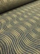 20 METRES Clearance Fishnet Wave Polyester Elastine Material Job Lot Bolt- Khaki Green JBL19 KH